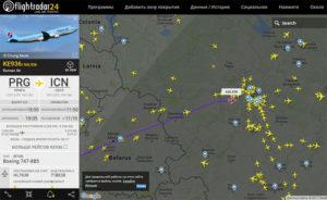 flight tracker flightradar24 track planes in real time, авиа трекер самолетов онлайн